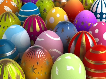 Background with Easter Eggs  Computer generated image Stock Photo - 16591566