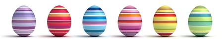 Easter Eggs on white background Computer generated image