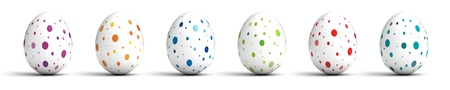 Easter Eggs on white background  Computer generated image Stock Photo - 16591557