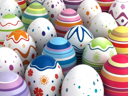 Background with Easter Eggs  Computer generated image Stock Photo - 16591560