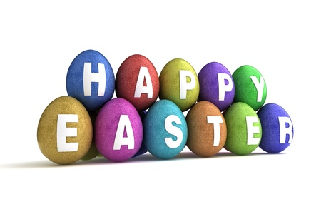Easter Eggs on white background  Computer generated image Stock Photo - 16591553
