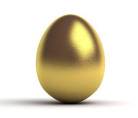 golden egg: Golden Egg on white background