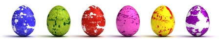 Easter Eggs on white background  Computer generated image Stock Photo - 16645672