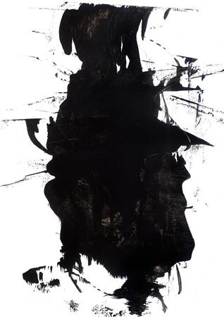 Negro de alta resolución y una máscara blanca del grunge