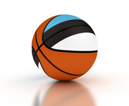 estonian: Estonian Basketball Team  isolated with clipping path