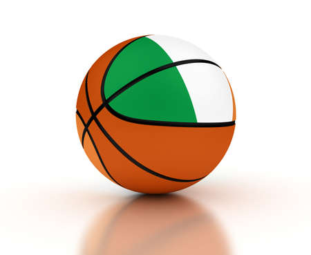 Irish Basketball Team  isolated with clipping path  photo