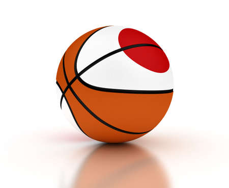 Japanese Basketball Team  isolated with clipping path Stock Photo - 16692611