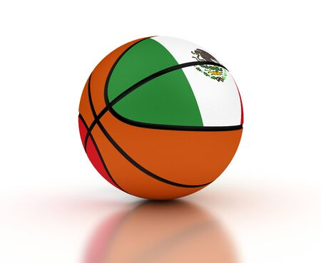Mexican Basketball Team  isolated with clipping path  Stock Photo - 16692634