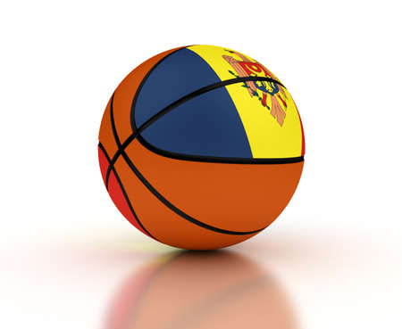moldovan: Moldovan Basketball Team  isolated with clipping path  Stock Photo