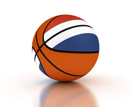 dutch flag: Netherlands Basketball Team  isolated with clipping path  Stock Photo