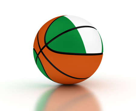 nigerian: Nigerian Basketball Team  isolated with clipping path  Stock Photo
