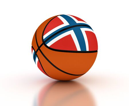 Norwegian Basketball Team  isolated with clipping path  photo