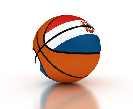 paraguayan: Paraguayan Basketball Team  isolated with clipping path