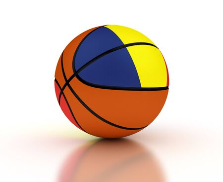 Romanian Basketball Team isolated with clipping path