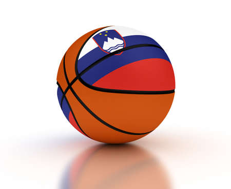 Slovenian Basketball Team  isolated with clipping path Stock Photo - 16692630