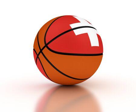 Swiss Basketball-Team mit Clipping-Pfad