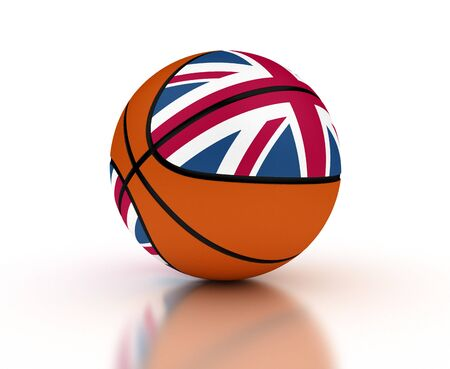 UK Basketball Team  isolated with clipping path  photo