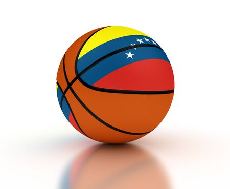 Venezuelan Basketball Team isolated with clipping path