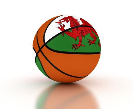 Welsh Basketball-Team mit Clipping-Pfad Standard-Bild