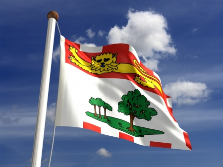 Prince Edward Island flag Canada  isolated with clipping path  Stock Photo - 16724759