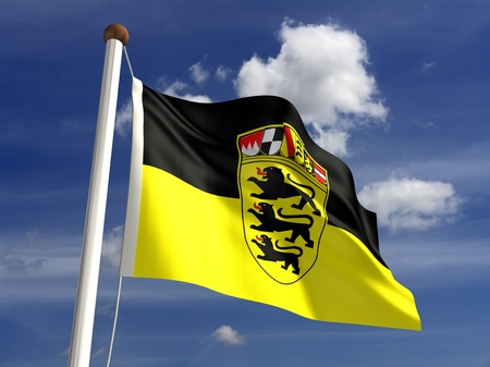 atilde: Baden-W& Atilde, frac14,rttemberg flag Germany  isolated with clipping path