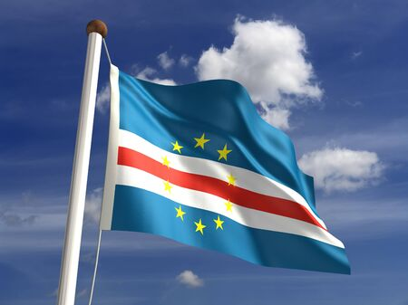 cape verde: Cape Verde flag  with clipping path  Stock Photo