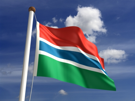 Gambia flag  with clipping path Stock Photo - 16771374