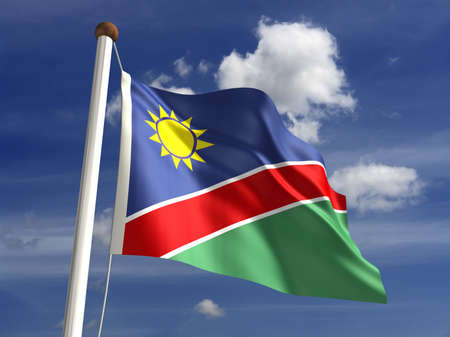 Namibia flag  with clipping path Stock Photo - 16771376