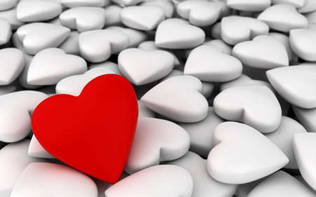 Red heart with white hearts  computer generated image Stock Photo - 16988801