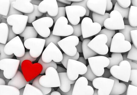 Red heart with white hearts  computer generated image  Stock Photo - 16988795