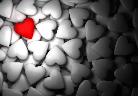 Red heart with white hearts  computer generated image Stock Photo - 16988803