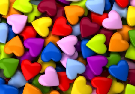 Colorful heart candy background  computer generated image Stock Photo - 16988796
