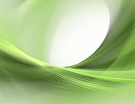Abstract fractal green weaves on white background photo