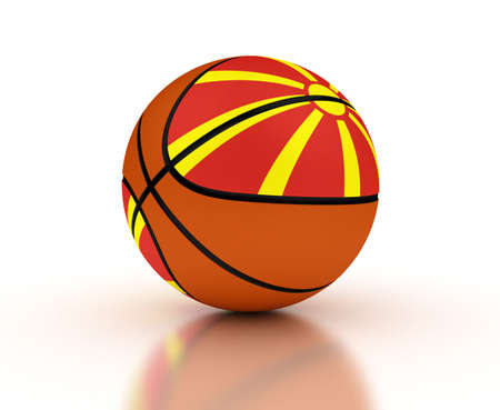 basketball team: Macedonian Basketball Team  High Resolation computer generated image