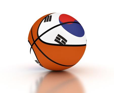 South Korean Basketball Team High Resolation computer generated image
