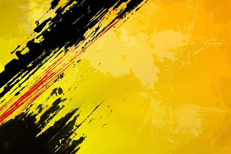 Abstract Yellow Background  horizontal design element  Reklamní fotografie