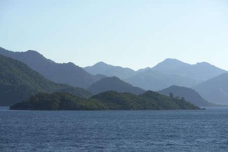 aegean sea: Marmaris Coasts, Turkey  Mountains and sea scene