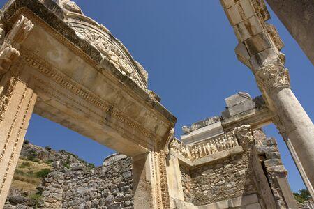 hadrian: Templo del Arco de Adriano en �feso, Turqu�a Foto de archivo