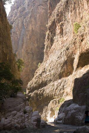 cleft: Saklikent Canyon  Fethiye Turkey