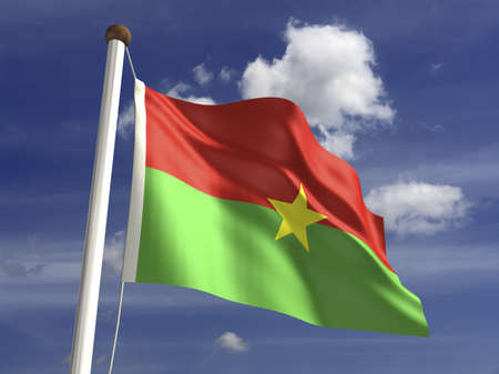 burkina faso: Burkina Faso flag  with clipping path