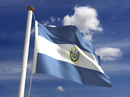 el salvadoran: El Salvador flag  with clipping path