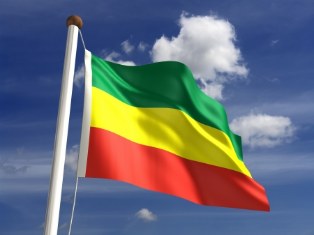 Ethiopia flag  with clipping path Stock Photo - 17860921
