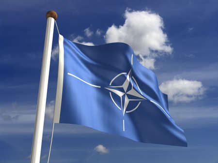 nato: Nato flag  with clipping path