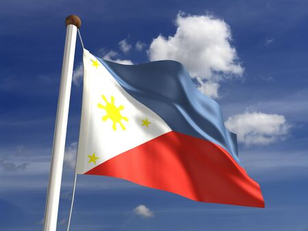 philippines: Philippines flag  with clipping path  Stock Photo