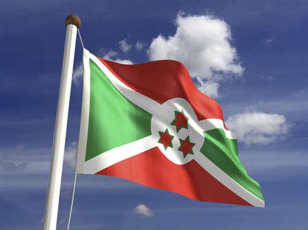 burundi: Burundi flag  with clipping path  Stock Photo