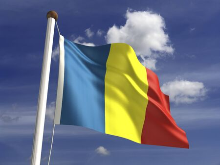 chad: Chad flag  with clipping path