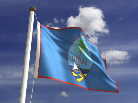 guam: Guam flag  with clipping path