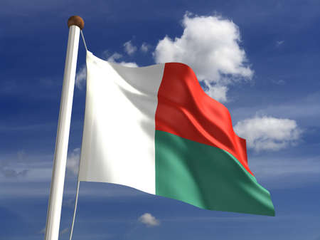 ���clipping path���: Madagascar flag  with clipping path  Stock Photo