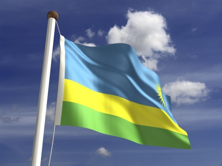 ���clipping path���: Rwanda flag  with clipping path  Stock Photo
