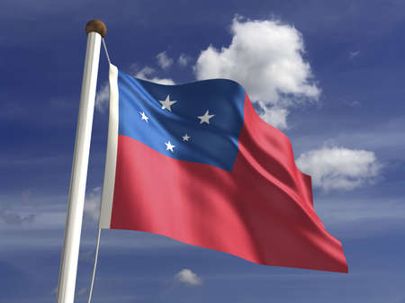 samoa: Samoa flag  with clipping path